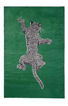 Climbing Leopard by | Silk Contemporary hand-knotted designer rugs 5 x 3 $4080