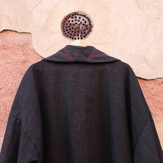 hard rock bathrobe robe housecoat borde red black vampire night bath men's linen coton flame