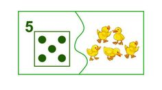 5 Number Puzzles, Math For Kids, Math Centers, Maths, Farm Animals, Kindergarten, Preschool, Teaching, Educational Games