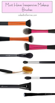 10 must have inexpensive makeup brushes that are great quality, but won't break…