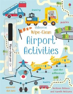Buy Wipe-Clean Airport Activities by Kirsteen Robson at Mighty Ape NZ. Young children need plenty of practice in pen-control - an essential skill they must learn before starting to form letters and numbers. This fun book . Jungle Activities, Dinosaur Activities, Animal Activities, Travel Activities, Activities For Kids, Travel Toys For Toddlers, Toddler Travel, Christmas Activities, Letters And Numbers