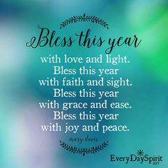 Happy New Year ~ xo Get the app at ~ www.everydayspirit.net xo #HappyNewYear #NewYear #blessings