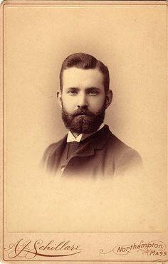 handsome bearded man - vintage