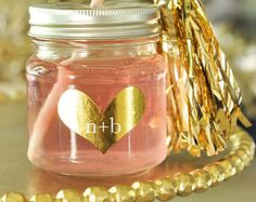 Gold Heart Stickers Silver Gold Foil Heart Decor by ModParty