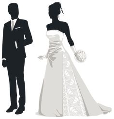 Bride and Groom Silhouettes PNG Clip Art in category Wedding PNG / Clipart - Transparent PNG pictures and vector rasterized Clip art images. Bride And Groom Silhouette, Wedding Silhouette, Silhouette Png, Bride And Groom Images, Bride Groom, Wedding Images, Wedding Cards, Clipart Black And White, Wedding Prints
