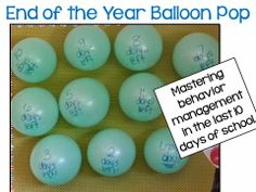Balloon Pop for End of the year