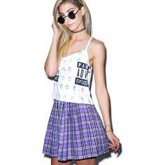Reality Bites Plaid Skirt ($32) ❤ liked on Polyvore featuring skirts, mini skirts, high-waist skirt, mini skirt, high waisted plaid skirt, tartan skater skirt and high-waisted skirts