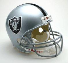 Oakland Raiders Helmet Riddell Replica Full Size VSR4 Style