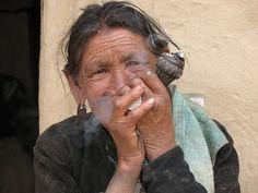 Tobacco smoking is common amongst both men & women, chillum