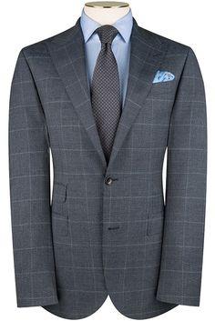 Navy Salt and Pepper Overcheck Suit