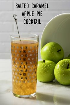 Create a delicious apple pie cocktail with Great America Malt Specialty, apple cider, and salted caramel vodka! Such a perfect mixed drink for fall. #ad