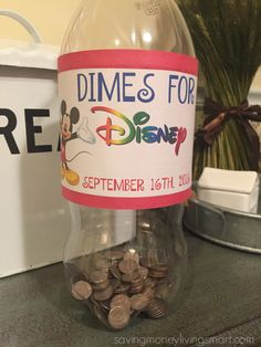 Dimes to Disney! How to Save $700 with Pocket Change! | Saving Money Living Smart