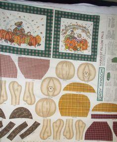 Daisy Kingdom 1176 Harvest Pillow Pals fabric Thanksgiving Fall Pumpkin Patch  #SpringsIndustries