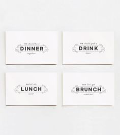 cute business cards // love the design