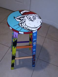Dr. Seuss Custom Stool
