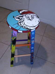 Dr. Seuss Custom Stool