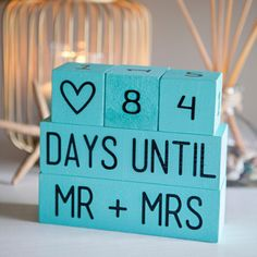 """Make this darling """"Wedding Countdown Sign"""" for that sentimental bride who wants to soak in every single day leading up to her wedding!"""