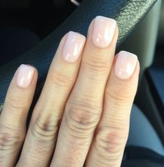 """LOVE this!! Two Coats of OPI GelColor """"Bubble Bath"""" & one coat CND Shellac """"Negligee"""""""