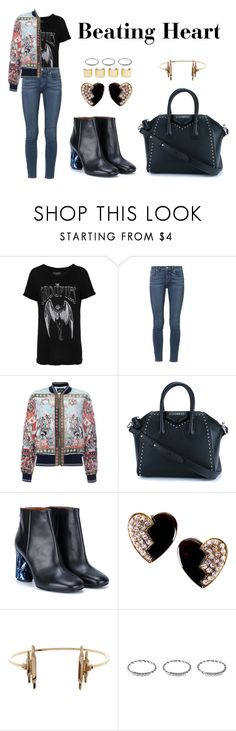 """Beating Heart"" by anaelle2 ❤ liked on Polyvore featuring French Connection, Paige Denim, Roberto Cavalli, Givenchy, Acne Studios, Yves Saint Laurent, Maria Black and Luv Aj"