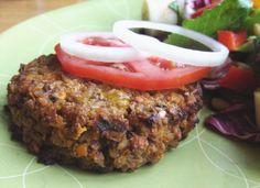 Sweet Potato and Kasha (Buckwheat) Burgers. Delicious vegan, gluten-free burger.
