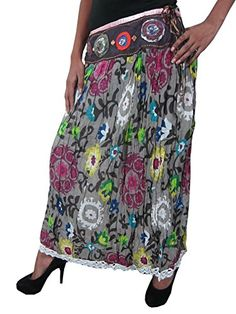 Vintage Floral Printed Long Maxi Skirt Lacework Sequin Gypsy Skirt Mogul Interior http://www.amazon.com/dp/B00O60WXZK/ref=cm_sw_r_pi_dp_xskmub0AV20H7