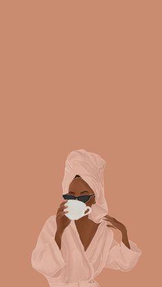 Black Girl Art, Black Women Art, Art Girl, Black Girl Aesthetic, Aesthetic Art, Black Art Painting, Magic Art, Cartoon Art, Cute Wallpapers