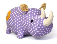 Rhino plush sewing pattern - Toy Animal Sewing Patterns - via FineCraftGuild.com