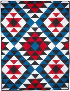Navajo quilt based on traditional woven rug designs. GLQC Collections - Baca