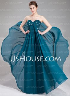 Evening Dresses - $152.99 - Empire Sweetheart Floor-Length Chiffon Evening Dress With Ruffle Lace Beading Sequins (017019742) http://jjshouse.com/Empire-Sweetheart-Floor-Length-Chiffon-Evening-Dress-With-Ruffle-Lace-Beading-Sequins-017019742-g19742
