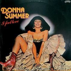 donna summer, I feel love 1977 - this was a signature disco beat produced by italian dj giorgio moroder along with blondie call me, and influenced brian eno and david bowie into electronic dance music Rap Albums, Music Albums, Lp Cover, Vinyl Cover, David Bowie, Dona Summer, Music Explosion, Rap Album Covers, Musica Disco
