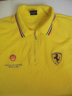 Italian Mens Fashion, Ferrari Scuderia, Italian Grand Prix, Jojo Parts, Golf Shirts, Shell, Polo Ralph Lauren, Yellow, Mens Tops