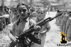 Palestinian refugee camp Training young girls. July 7, 1975 An Israeli aggression against Rachidieh and Bourghoulieh camps in South Lebanon killed 12 persons and wounded 20 others. A Lebanese complaint was lodged at the United Nations.