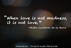 Beautiful crazy love.