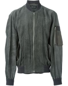 f0ce2c1f2 Damir Doma | Gray Textured Sleeve Pocket 'jaram' Bomber Jacket for Men |  Lyst
