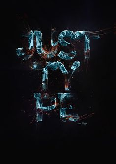 Inspirational 3D Typography and Title Design.: Glass, Neon, Digital 3D Type Design