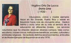 Virgilina Ortiz de Lucca, Doña Lina