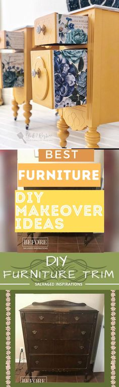 Here are 20 of the BEST old Furniture Makeover Ideas you have to see for yourself