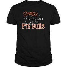 Sleeps with Pitbulls. Love Your Pit Bull Smile?