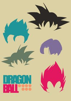 Dragonball Z Hairstyles, i want this on my wall...now!