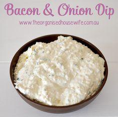 Yummie a encore sévit Elle nous offre des dips bacon oignon ! - a Bacon and Onion Dip for Lunch Box Recipes, Dip Recipes, Cooking Recipes, Lunchbox Ideas, Appetizer Dips, Appetizer Recipes, Savoury Recipes, Bacon, Savoury Biscuits