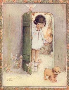 Mabel Lucie Attwell.. Borboleta Azul: Ilustrações de