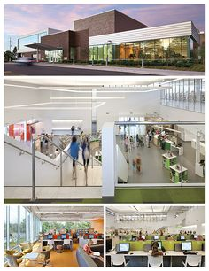 Roseville Library (MN) Green decisions ripple through the building form, furnishings, finishes, and fixtures. Some are common to green buildings and others stand out.