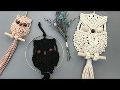 Tips for My Macrame Owl / 마크라메 부엉이 Tip // Halina Bukowska -Poprawska Macrame Owl, Micro Macrame, Macrame Jewelry, Macrame Projects, Crochet Projects, Diy Instagram, Macrame Design, Macrame Patterns, Yarn Crafts