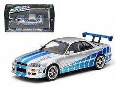 "1999 Nissan Skyline GT-R \2 Fast 2 Furious\"" Movie (2003) 1/43 Diecast Car Model by Greenlight"""