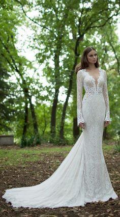 Berta Bridal - long sleeve wedding dress