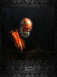 Ritók Lajos Olajfestmény, Oilpainting, Portré