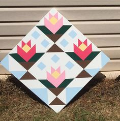 Items similar to Hand painted rustic barn quilt. on Etsy Rustic Barn, Barn Wood, Barn Quilts For Sale, Wood Crafts, Diy Crafts, Barn Boards, Barn Quilt Patterns, Spring Flowers, Flower Patterns