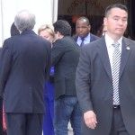 """Jason Mattera asks Hillary Clinton to sign his book """"to Christopher Stephens""""; makes her squirm:  http://dailysurge.com/2014/06/hillary-clinton-asked-inscribe-hard-choices-ambassador-stevens/"""
