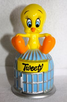 Vintage 1980's Looney Toons Tweety Bird Gum Ball Candy Dispenser on Etsy, $12.00
