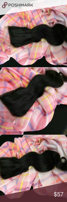 ✨ Unprocessed Virgin Human Hair Closure✨ Unprocessed Virgin Human Hair Closure Piece  Length~ 12 inches  Color ~ Natural  Style~ Body Wave  (#268) Accessories Hair Accessories